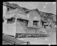 Beach cottage where Aimee Semple McPherson stayed while recuperating, Malibu, 1930