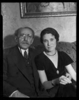 Elias Morgenstiern and his new wife Ida Gewertz, Los Angeles, 1931