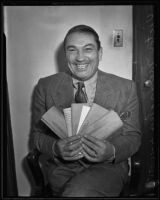 English actor Victor McLaglen is taken to court again, Los Angeles, 1935