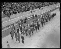 Spanish-American war veterans at Memorial Day parade, Los Angeles, 1926