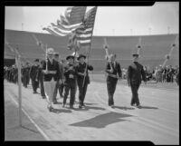 Grand Army of the Republic veterans in Memorial Day parade, Los Angeles, 1934