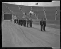Veterans march in Memorial Day parade at Coliseum, Los Angeles, 1935