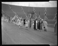 Grand Army of the Republic Ladies at the Memorial Day parade at the Coliseum, Los Angeles, 1935