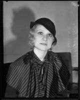Marie Michelena goes to court over parking dispute, Los Angeles, 1934