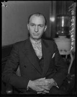 Mosier M. Meyer is accused of bribery totaling $19, 355, Los Angeles, 1934