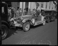 Louis B. Miller completes transcontinental drive to Los Angeles, 1927