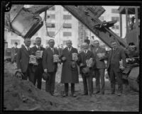 Groundbreaking ceremony for National Biscuit Company's new plant, Los Angeles, 1925