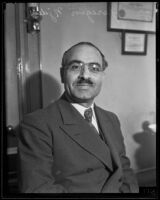 General Garegin Njdeh during a visit, Los Angeles, 1934