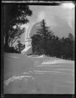 Snowfall surrounding Mt. Wilson observatory, Mount Wilson, 1927