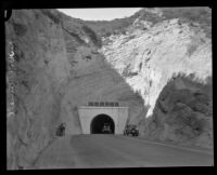 Plan approved to relieve traffic through Newhall Tunnel, Los Angeles County, 1928
