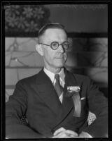 George A. Noonan, president of the Santa Monica Rotary Club, Santa Monica, 1935