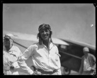 Women's Air Derby racer Blanche W. Noyes, Santa Monica (probably), 1929