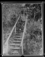 Stairs leading to J. Belton Kennedy's summer cottage (copy), Los Angeles, ca. 1921