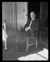 Murder suspect Arthur C. Burch, Los Angeles, 1921-1922