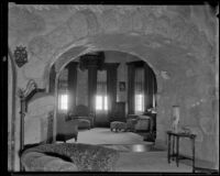 Interior of Shea's Castle, Mojave Desert, 1935