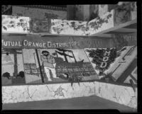 Mutual Orange Distributors display at the National Orange Show, San Bernardino, 1933