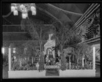 Pomona display at the National Orange Show, San Bernardino, 1934
