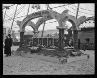 Chapman's Old Mission Brand display at the Valencia Orange Show, Anaheim, 1921
