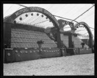 Mutual Orange Distributors display at the Valencia Orange Show, Anaheim, 1921