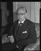 Pascual Ortiz Rubio, former president of Mexico, visits Los Angeles, Los Angeles, 1932