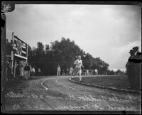 Charlie Paddock sets new 250 meter record, Pomona, 1927