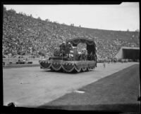 First Continental Congress float at the Pageant of Liberty at the Coliseum, Los Angeles, 1926