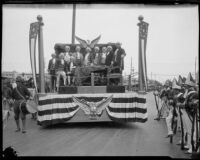 Declaration of Independence float at the Pageant of Liberty, Los Angeles, 1926