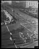 Preparedness Parade on W. 1st St and Spring St, Los Angeles, 1935
