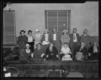 Jury during Louis R. Payne's murder trial, Los Angeles, 1934-1935