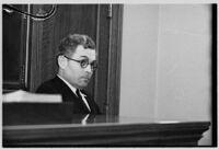 Witness testifies during Louis R. Payne murder trial, Los Angeles, 1934-1935