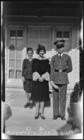 Robert Payne and Carrie L. Payne with Louis R. Payne (copy), Los Angeles, ca. 1934