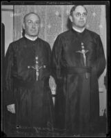 Reverend Francis Quinan and Reverend Jerome Donegan, to give Catholic lectures, Los Angeles, 1933