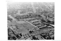 Aerial view of East Los Angeles