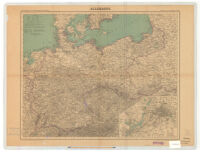 Carte du Theatre de la Guerre: Allemagne