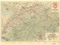 Reiskaart van Zwitserland