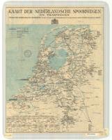 Kaart der Nederlandsche spoorwegen en tramwegen