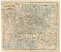 Hauptverkehrslinien von Europa.Eisenbahn - Übersichtskarte von Deutschland und den Angrenzenden Ländern.
