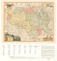 Karte der Oberlausitz, etwa 1720