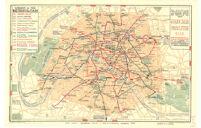 Paris Plan Offert Par le Chemin de fer Metropolitain Underground Railway.