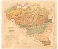 Carte Administrative des Régions Agricoles de la Belgique