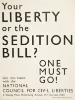 Your liberty or the Sedition Bill?