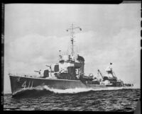 Naval ship USS Anderson, rephotographed, 1951