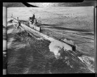 Naval ship USS 0-8 Submarine, rephotographed, 1951