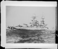 Naval ship Pennsylvania, rephotographed, 1951