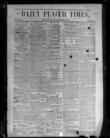 Front page of Daily Placer Times Nov. 19, 1850, photographed, 1950