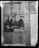 Article on Ina Donna Coolbrith, Jan. 2 1926, rephotographed, 1953