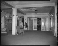 Windemere Hotel lobby and entrance to Bamboo Room lounge, Santa Monica, 1955