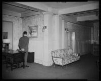 Windemere Hotel lobby, Santa Monica, 1955