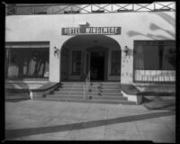 Entrance to the Windemere Hotel, Santa Monica, 1955