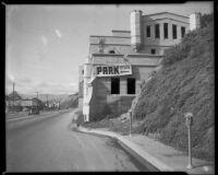 Sorrento Beach Club seen from Pacific Coast Highway, Santa Monica, 1953